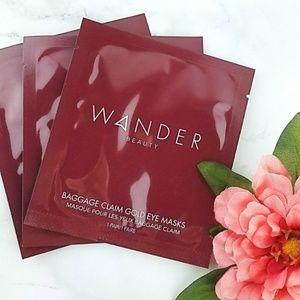 3 Wander Beauty Baggage Claim Gold Eye Masks